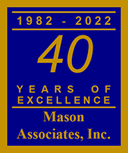 Mason Associates, Inc. 28 Years of Excellence Emblem